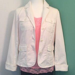 White Lightweight Jacket Blazer CUTE Casual